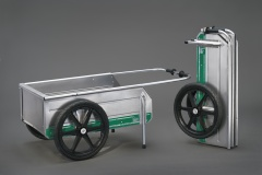 With The Optional Riding Lawn Mower Trailer Hitch, The Foldit Cart Can Be  Towed Around The Yard Or Farm.